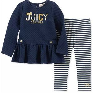 Juicy Couture Blue Stripped Outfit